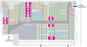 Plano de localización de oficinas de alquiler para dos empleados en CEPAR